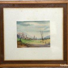 Arte: PAISAJE EN ACUARELA. Lote 195311901