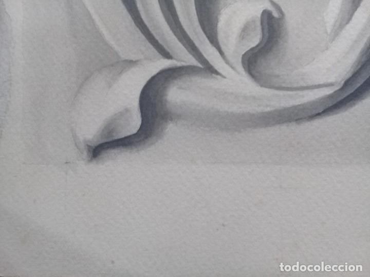 Arte: Dibujo lápiz y acuarela detalle modernista Melilla. Firmado y fechado 1934 - Foto 6 - 195360670