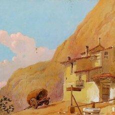 Arte: CASA DE CAMPO. PROYECTO ESCENOGRAFÍA TEATRAL. ACUARELA. FIRMADO ALARMA (SALVADOR?). ESPAÑA. XIX. Lote 195370961