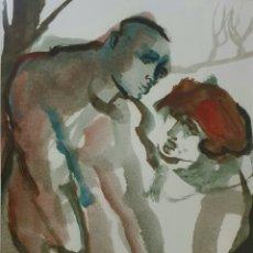 Arte: LOTHAR KAMPMANN (ALEMANIA 1925-1993) PRECIOSA ACUARELA FIRMADA.. Lote 195371156