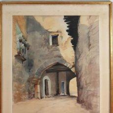 Arte: PUERTA DE ARCO. ACUARELA SOBRE PAPEL. FIRMADO M. CAMPS?. SIGLO XX. . Lote 195383202