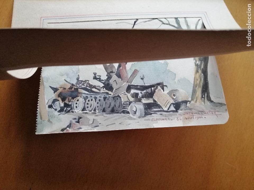 Arte: Liberación de Paris 1944, WWII. Acuarela, carro de combate en Clamart. Jacques Cartier. - Foto 7 - 195493887