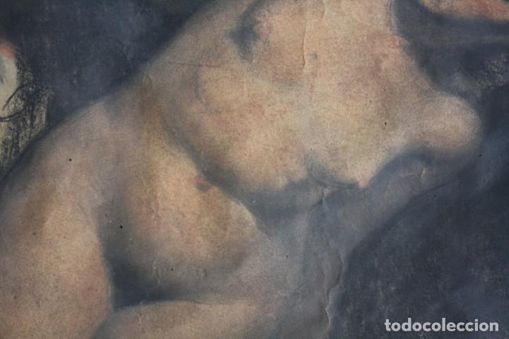 Arte: Josep Truco Prat, desnudo femenino, técnica mixta sobre papel, firmado, con marco. 109x74cm - Foto 6 - 195843970