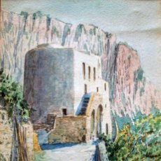 Arte: MARIA ADA GIANNI (1873-1956). ACUARELA/PAPEL 25 X 18 CM. FIRMADA. CON MARCO.. Lote 195870267