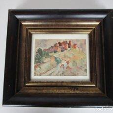 Arte: CURIOSA ACUARELA - IVO, IU PASCUAL RODES (VILANOVA Y GELTRÚ 1883- RIUDARENES 1949). Lote 196054512