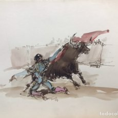 Art: PORTA GAYOLA, ACUARELA DE MONIQUE LANCELOT. Lote 196068295