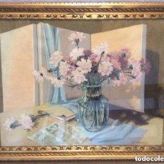 Arte: R.ROMAGNOLI, GOUACHE REPRESENTANDO TEMA FLORAL , FIRMADO POR EL ARTISTA ITALIANO PRECIOSA OBRA GOUA. Lote 196250792