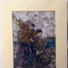 Arte: CAMPOS MARTÍN JOSÉ RAMÓN ,ACUARELA TEMÁTICA VASCA . Lote 196280000