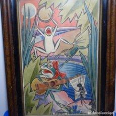 Arte: ACUARELA FIRMADA DATZIRA 1948.ESTIU.. Lote 196316308