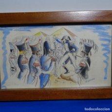 Arte: ACUARELA FIRMADA E. NOVEL.NAPOLEON EN EGIPTO.. Lote 196318352