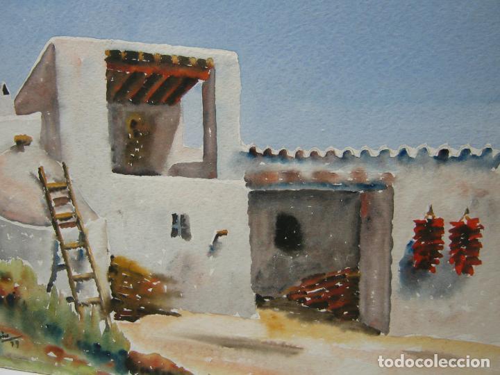 Arte: Bella acuarela firmada 1979 - Ibiza - Casa en S. Gertrudis Eivissa - Foto 2 - 196376777