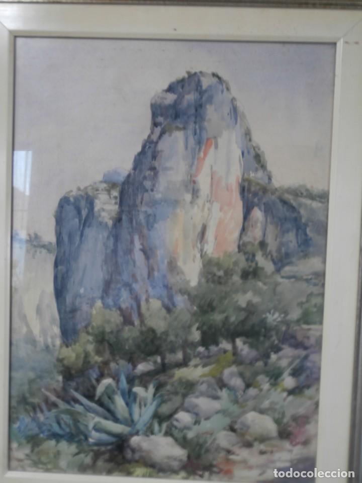 ACUARELA FIRMADA BUEN TAMAÑO,GRAN CALIDAD,RAFAEL MAÑEZ (Arte - Acuarelas - Modernas siglo XIX)