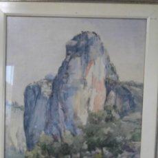 Arte: ACUARELA FIRMADA BUEN TAMAÑO,GRAN CALIDAD,RAFAEL MAÑEZ. Lote 196383027