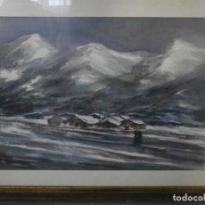 Arte: PINTURA SOBRE CARTON FIRMADA POR EL PINTOR ESCRITOR VALENCIANO JOSE GASSENT. Lote 196383891