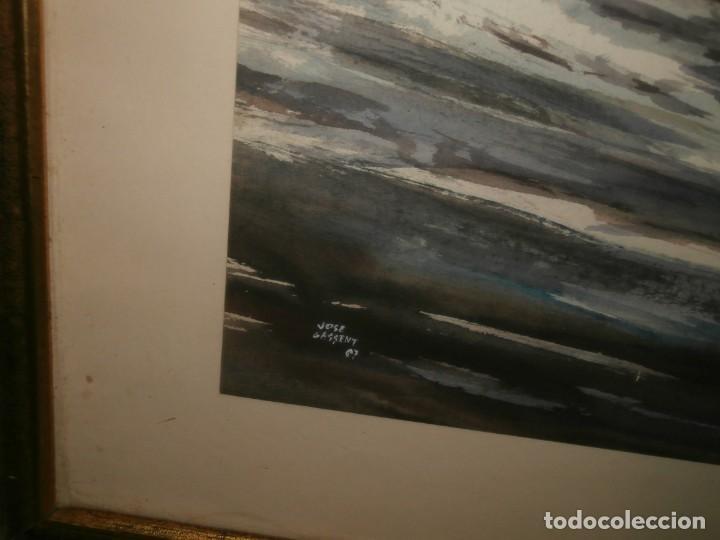 Arte: pintura sobre carton firmada por el pintor escritor valenciano jose gassent - Foto 2 - 196383891