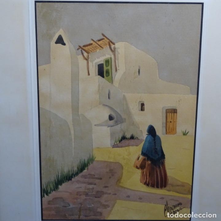 ACUARELA FIRMADA CHAVARINO.IBIZA. (Arte - Acuarelas - Contemporáneas siglo XX)