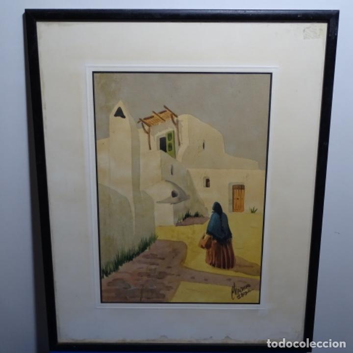 Arte: Acuarela firmada chavarino.ibiza. - Foto 2 - 196394136