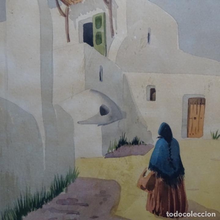 Arte: Acuarela firmada chavarino.ibiza. - Foto 3 - 196394136