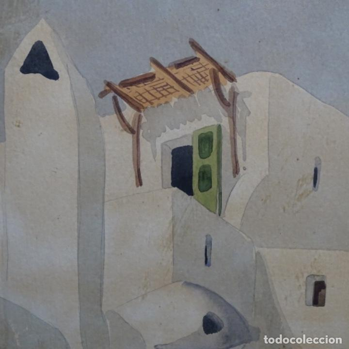 Arte: Acuarela firmada chavarino.ibiza. - Foto 4 - 196394136