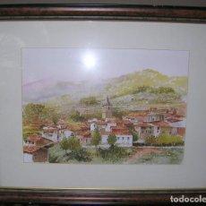 Arte: PASARÓN DE LA VERA (CÁCERES). ACUARELA DE TIRSO. FIRMADA. Lote 196489210