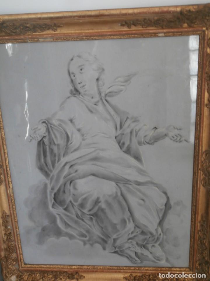 Arte: aguada de corte neoclasico,escuela noeclasica,jose vergara,vicente lopez,finales del xviii - Foto 2 - 196592918