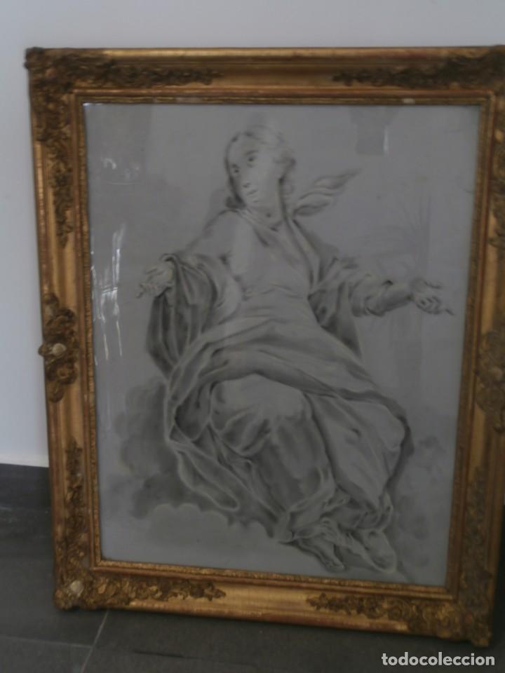 Arte: aguada de corte neoclasico,escuela noeclasica,jose vergara,vicente lopez,finales del xviii - Foto 7 - 196592918