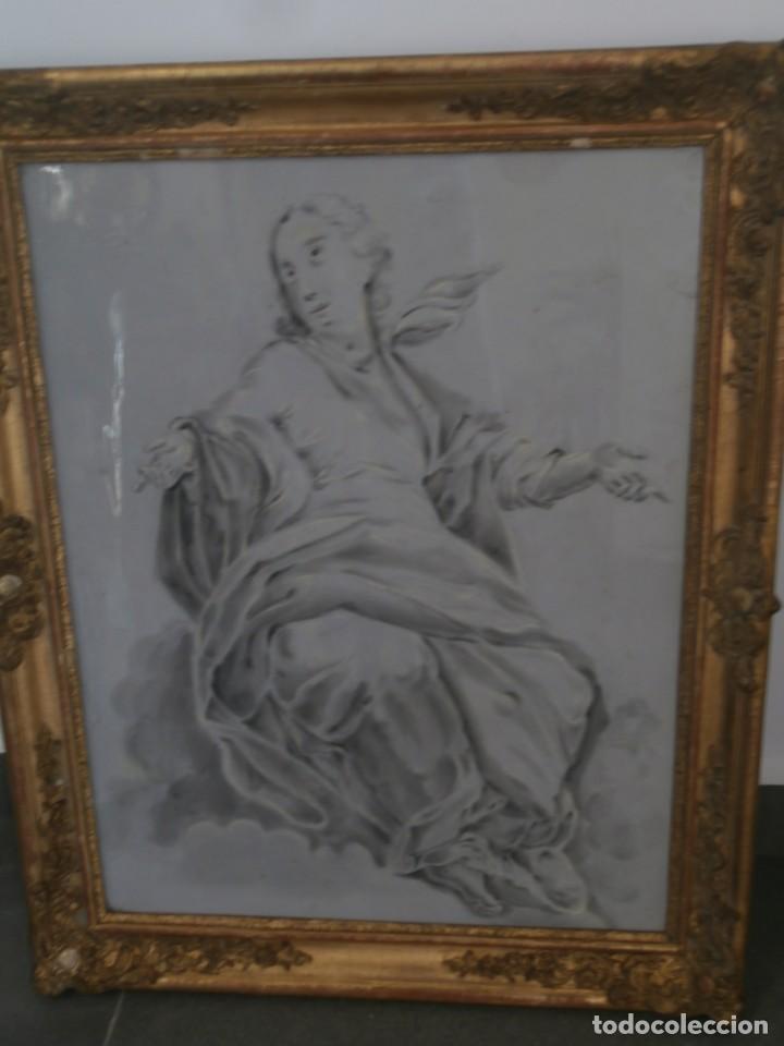Arte: aguada de corte neoclasico,escuela noeclasica,jose vergara,vicente lopez,finales del xviii - Foto 8 - 196592918