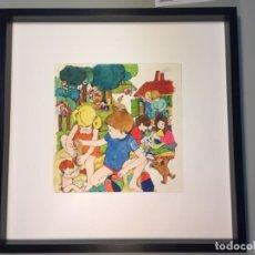 Arte: ARJÉ, TÉCNICA MIXTA SOBRE CARTÓN, 50X50 CMS.. Lote 159495150