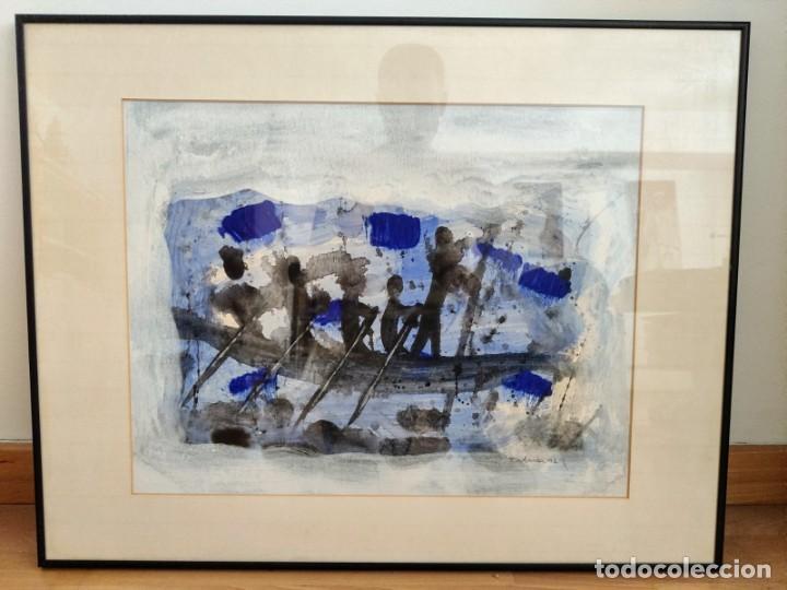 TUDANCA JOSE LUIS GONZALEZ1992. ACUARELA ABSTRACTA ( PINTURA - ARTE - CUADRO - MALLORCA - BALEARES ) (Arte - Acuarelas - Contemporáneas siglo XX)