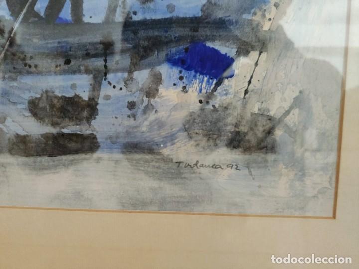 Arte: TUDANCA Jose Luis Gonzalez1992. ACUARELA ABSTRACTA ( PINTURA - ARTE - CUADRO - MALLORCA - BALEARES ) - Foto 4 - 196957612