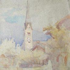 Arte: EXCELENTE ACUARELA ORIGINAL IMPRESIONISTA, FINALES DEL SIGLO XIX, POSIBLEMENTE ESCUELA FRANCESA. Lote 196969273