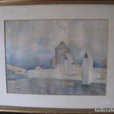 Arte: ACUARELA ORIGINAL DE SEBASTIAN REY PADILLA, LINARES 1911 MADRID 1973.. Lote 197174940