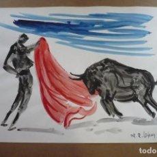 Arte: ACUARELA FIRMADA DR.LENDVAY. Nº 4. Lote 197328028