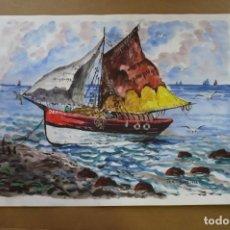Arte: ACUARELA FIRMADA DR.LENDVAY. Nº 5. Lote 197328070