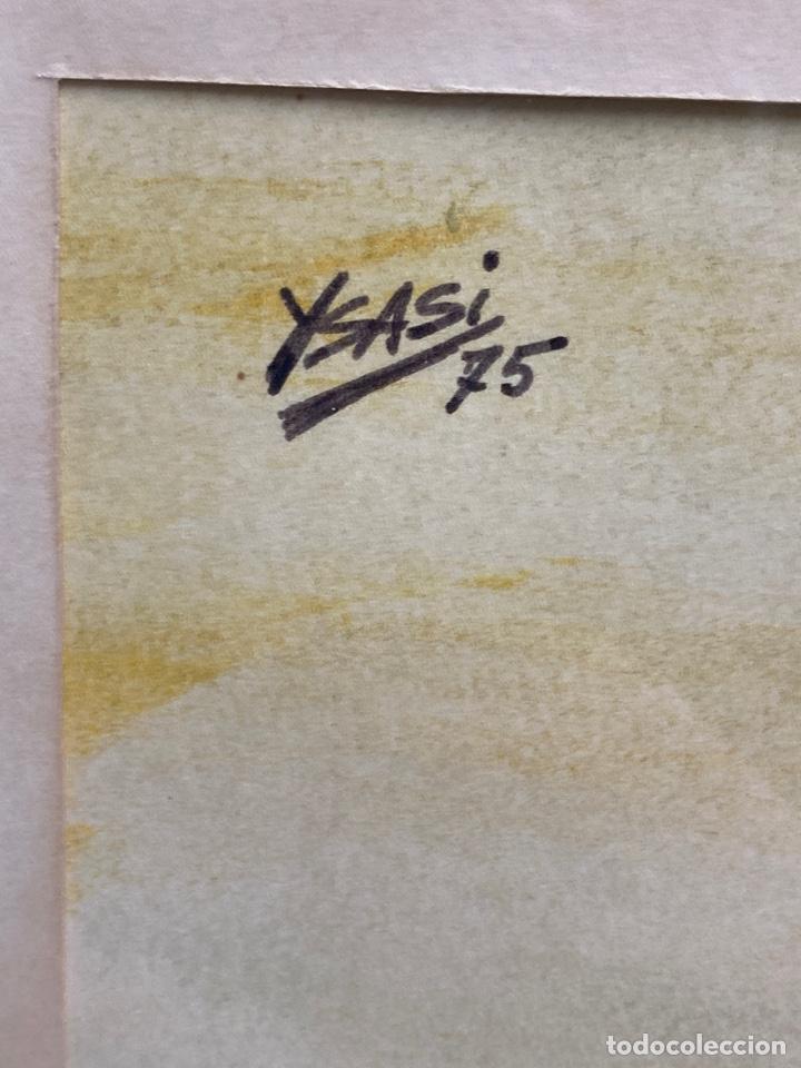 Arte: C-980. ACUARELA SOBRE PAPEL, GOLFISTA. FIRMADO YSASI. 1975. - Foto 3 - 197382605