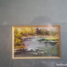 Arte: PRECIOSA ACUARELA DE MERCÉ BEGUÉ MIREN FOTOS . Lote 197395301