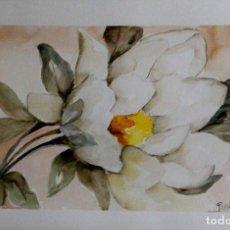Arte: FLOR BLANCA OBRA DE LUESMA . Lote 197440362