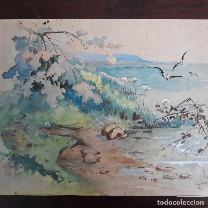 Arte: acuarela gran calidad firmada marin 1914 - Foto 2 - 197579623
