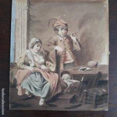 Arte: ACUARELA SIGLO XVIII,COSTUMBRISTA. Lote 197580041