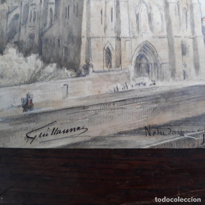 Arte: acuarela firmada y fechada guillaume 1852 nostredam finisimo trabajo maestro - Foto 3 - 197581257