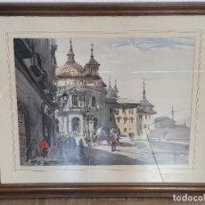 Arte: ACUARELA DE RICARDO SACRISTAN ARRIETA. Lote 197665566