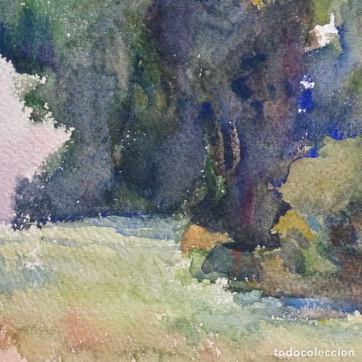 Arte: 2 acuarelas anónimas de buen trazo y colorido.por delante y detrás. - Foto 10 - 197673317