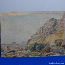 Arte: ANTIGUA ACUARELA FIRMADA F. L.. Lote 197676527