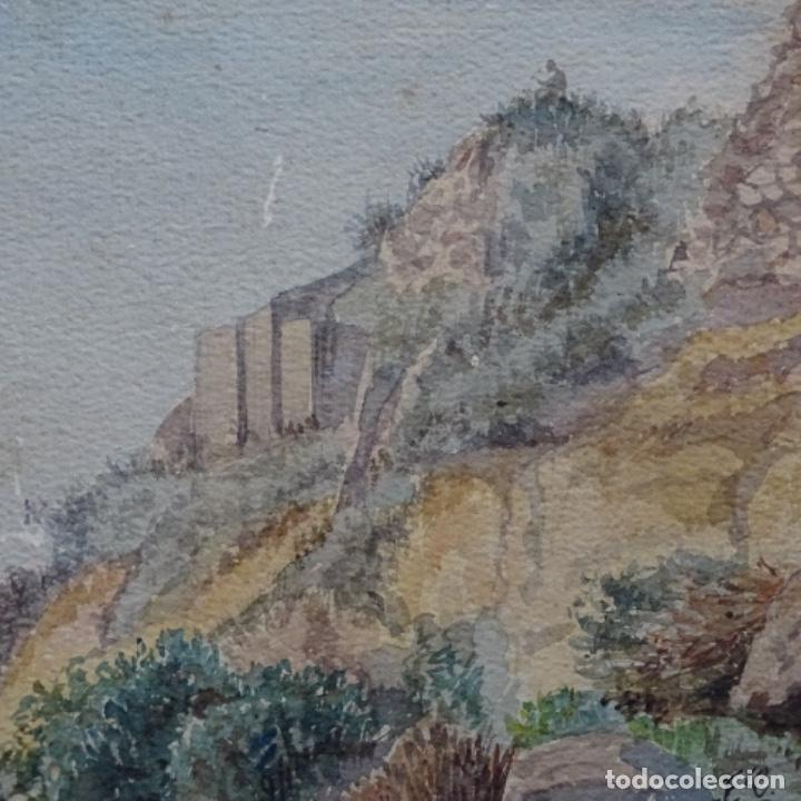Arte: Antigua acuarela firmada f. L. - Foto 2 - 197676527