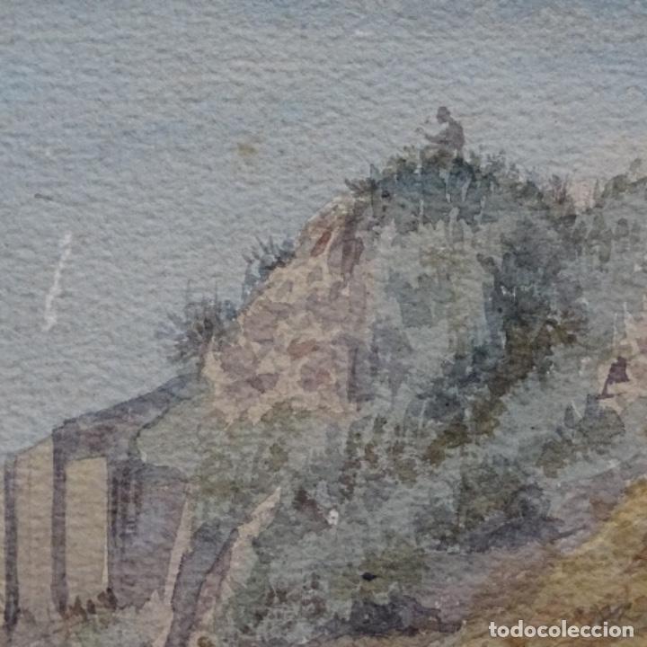 Arte: Antigua acuarela firmada f. L. - Foto 4 - 197676527