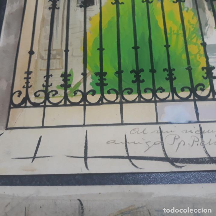 Arte: 6 acuarelas de fernando hurtado sanchis dedicadas fechadas en el 36,1936 burgos - Foto 2 - 197757340