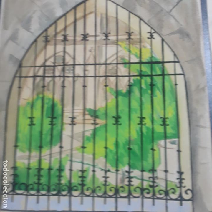Arte: 6 acuarelas de fernando hurtado sanchis dedicadas fechadas en el 36,1936 burgos - Foto 4 - 197757340