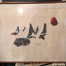 Arte: BONITA ACUARELA FIRMADA, POR IDENTIFICAR. Lote 197782575