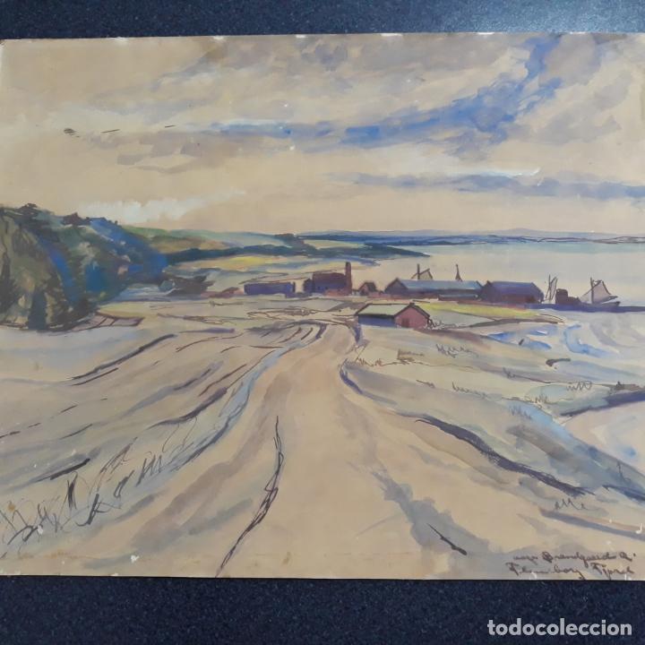 Arte: acuarela firmada alfred braendgaard-andersen - Foto 2 - 197857882