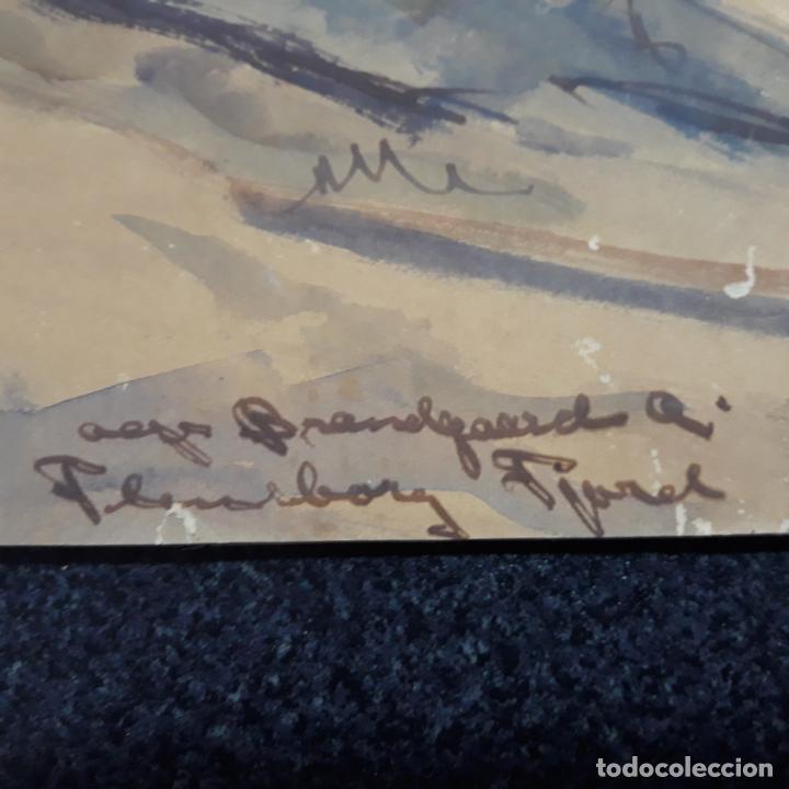 Arte: acuarela firmada alfred braendgaard-andersen - Foto 3 - 197857882